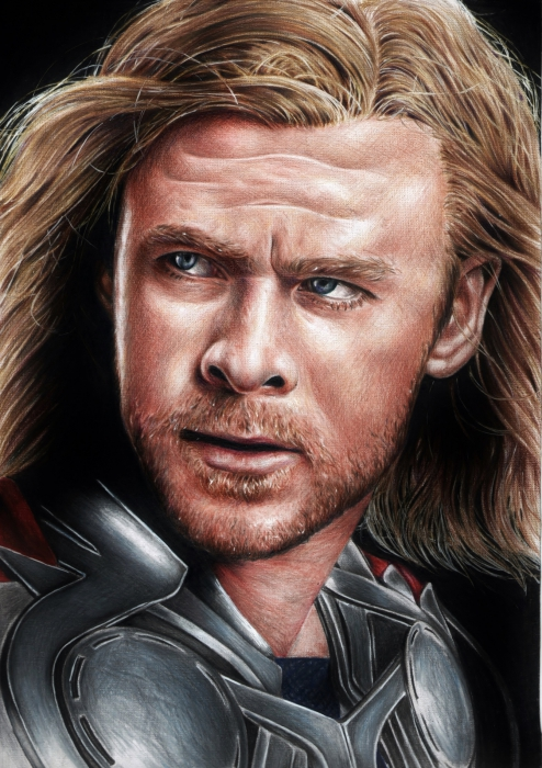 Chris Hemsworth by Cymbidium